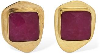 Liya Candy Stud Chalcedony Earrings