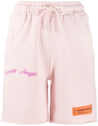 Heron Preston relaxed-fit embroidered track shorts