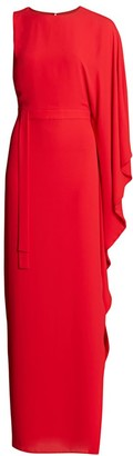 Halston Kaftan One-Shoulder Gown