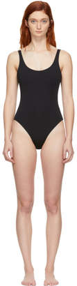 Skin Reversible Black and Taupe The Lana One-Piece Swimsuit