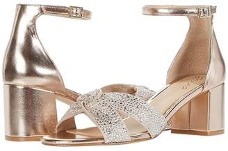 Badgley Mischka Nicolette (Champagne/Clear) Women's Shoes