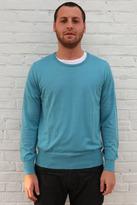 Simon Spurr U Neck Cashmere Sweater Turqouise