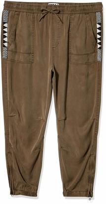 Pam & Gela Women's Cargo Pant W/Zips