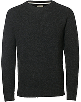 Selected Homme Brandon Crew Neck, Dark Grey Melange
