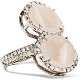 Kimberly McDonald - 18-karat Blackened White Gold, Geode And Diamond Ring - 6