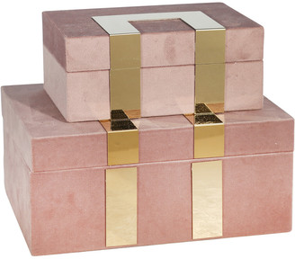 Sagebrook Home Velveteen Jewelry Box Set