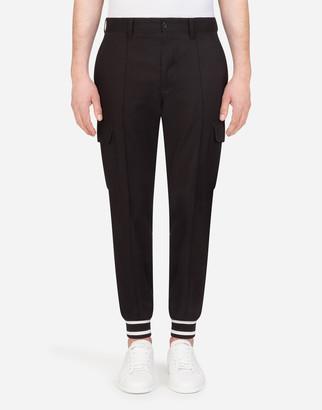 Dolce & Gabbana Stretch Cotton Cargo Pants
