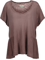Current/Elliott The Girlie Linen And Cotton-Blend T-Shirt
