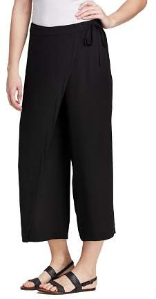 Eileen Fisher Silk Cropped Wrap Pants