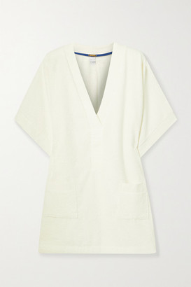 Tooshie Positano Cotton-terry Mini Dress - Cream