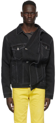 Y/Project Black Denim Twisted Jacket