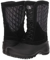 The North Face ThermoBalltm Utility Mid (Shiny TNF Black/TNF Black) Women's Cold Weather Boots