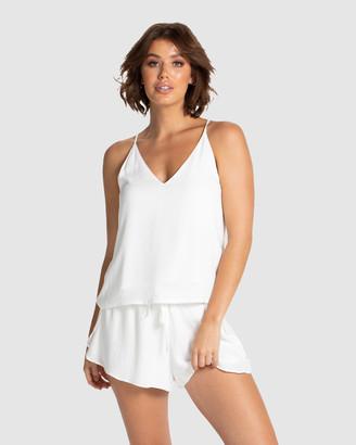 Deshabille Women's White Pyjamas - Rochelle PJ Set - Size One Size, XS at The Iconic