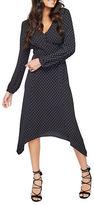 Miss Selfridge V-Neck Polka-Dot Dress