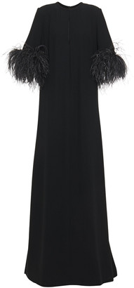 Elie Saab Feather-trimmed Gown