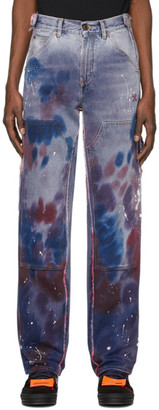 Off-White Off White Purple Reconstructed Carpenter Jeans