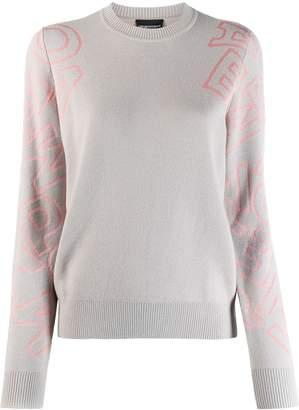 Emporio Armani oversized logo printed jumper