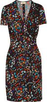 Issa Wrap-effect printed crepe-jersey dress