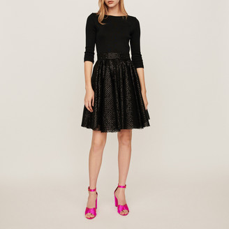 Maje Jersey and sequin dress