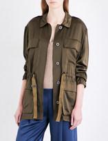 Theory Thornwood silk-satin jacket