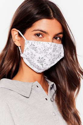 Nasty Gal Womens Speak Out Floral 3-Pc Fashion Face Mask - Nude