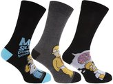 The Simpsons Mens Official Homer Simpson Socks (3 Pairs)