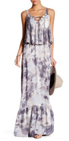 Young Fabulous & Broke V-Neck Front Lace-Up Print Dress