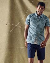 RUNDLAW Circle geo print cotton shirt
