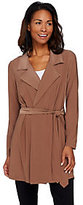 As Is Attitudes by Renee Jersey Knit Trench Style Jacket