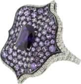 Bayco Purple Sapphire and Diamond Lotus Ring