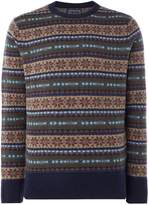 Howick Harvard Fairisle Crew Neck Jumper