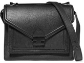 Loeffler Randall Rider Medium Textured-leather Shoulder Bag - Black