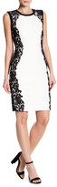 T Tahari Doris Lace Trim Sheath Dress