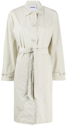 Aspesi Point-Collar Belted Trench Coat