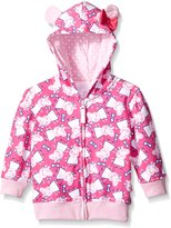 Happy Threads girls Toddler Peppa Pig 3D Ears Hooded Sweatshirt