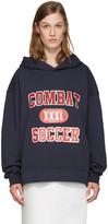 MSGM Navy 'Combat Soccer XXXL' Hoodie