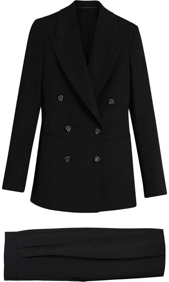 Burberry Crest Button Wool Silk Tailored Jacket