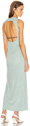John Elliott Velvet Jersey Maxi Dress in Celadon | FWRD