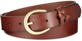 INC International Concepts Double Knot Keeper Leather Belt, Only at Macy's