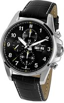 Jacques Lemans Men's 1-1750A Liverpool Automatic Analog Display Swiss Automatic Black Watch