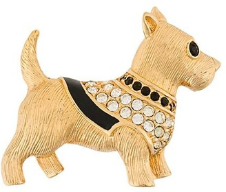 Susan Caplan Vintage Swarovski Dog Brooch