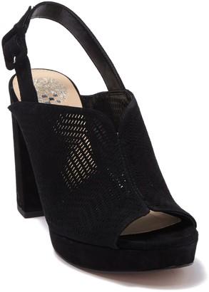 Vince Camuto Jenseya Perforated Peep Toe Sandal