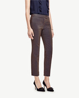 Ann Taylor Tall Kate Geo Jacquard Everyday Ankle Pants