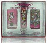 Ed Hardy 4 Piece Deluxe Rollerball Eau De Parfum Gift Set for Women 0.34 oz - Ed Hardy, Hearts & Daggers, Born Wild & Villain Perfume