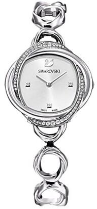 Swarovski Crystal Flower Watch (Silver) Watches