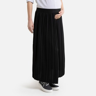 La Redoute Collections Pleated Maternity Maxi Skirt