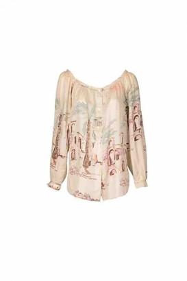 Hermes Beige Silk Top for Women