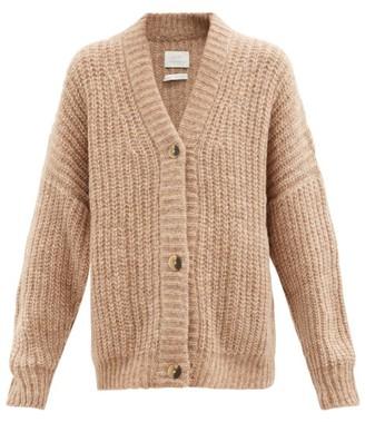 LAUREN MANOOGIAN Ribbed-knit Cardigan - Camel