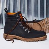 River Island Mens Black Blood Brother leather lace-up boots