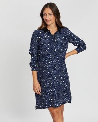 Seraphine Danette Zip Front Shirt Dress
